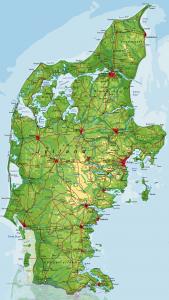 Danmarkskort - Jylland - rigtig kort