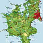 Danmarkskort - Sjælland - rigtig kort
