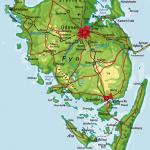 Danmarkskort - Fyn - rigtig kort